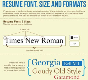 ... Resume Font Size And Formating  Fonts To Use On Resume