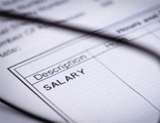 Salary in application form