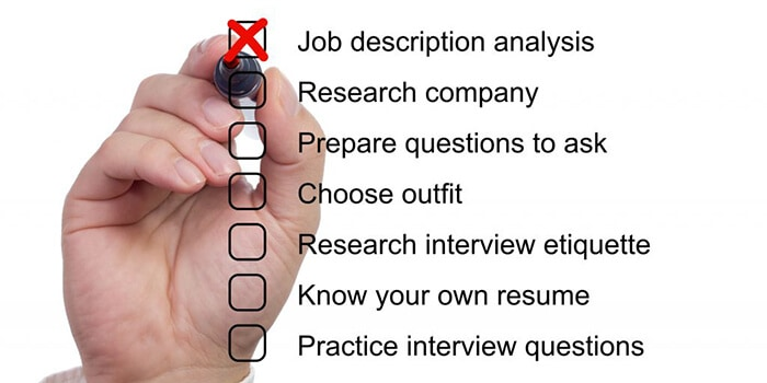 Research before interview